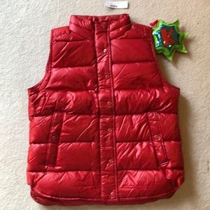 Shiny Puffer Vest in Roasted Pepper
